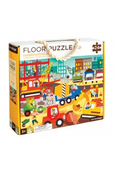 (Pre Order ) Petit Collage Floor Puzzle -Construction Site