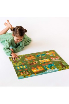 (Pre Order ) Petit Collage Floor Puzzle - Count On The Train