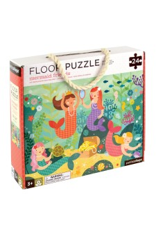(Pre Order ) Petit Collage Floor Puzzle -Mermaid Friends