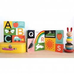 (Pre Order ) Petit Collage -ABC My First Touch & See Alphabet Board Book