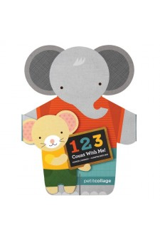 (Pre Order ) Petit Collage -1-2-3- Count With Me Shaped Board Book