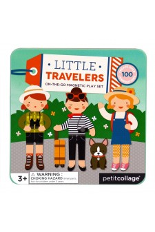 (Pre Order ) Petit Collage On The Go Magnet Play-Little Travelers