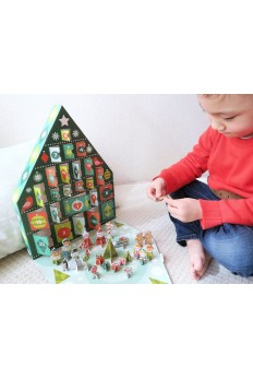 (Pre Order ) Petit Collage Pop Out Advent Calendar Tree