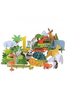 (Pre Order ) Petit Collage Deluxe Pop Out -Animals of The World