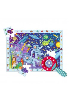 [Pre Order] Mideer Detective  Puzzle Games Cardboard 42 Puzzle with an Magnifier for Kids