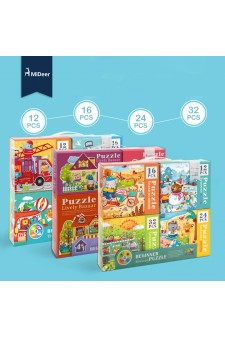 [Pre Order] Mideer 4 in 1 Puzzle (4 boxes in a set)