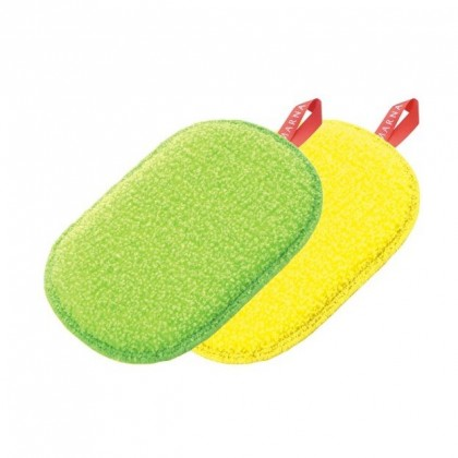 [Ready Stock] Japan Marna Sponge 日製雙面清洗菜瓜布 ( 橢圓形/抹布型) #柔妈咪强力推荐