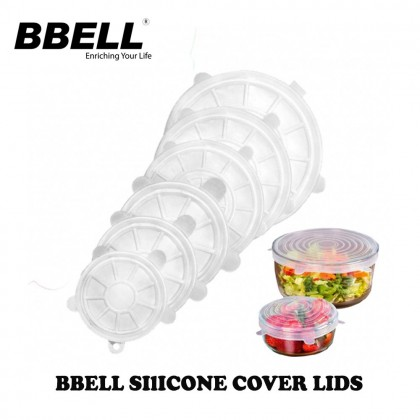 [Ready Stock ] BBELL Silicone Cover Lid (6pcs/set)